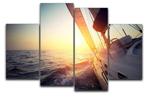 Sail boat gliding 4 Split Panel Canvas  - Canvas Art Rocks - 1