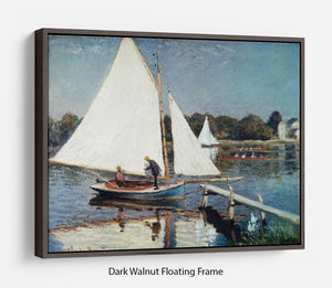 Sailing At Argenteuil 2 by Monet Floating Frame Canvas