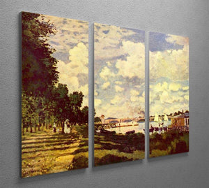 Sailing at Argenteuil by Monet Split Panel Canvas Print - Canvas Art Rocks - 4