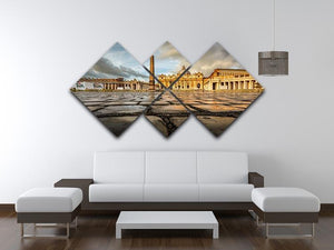 Saint Peter Basilica in the Morning 4 Square Multi Panel Canvas  - Canvas Art Rocks - 3