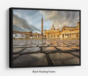 Saint Peter Basilica in the Morning Floating Frame Canvas