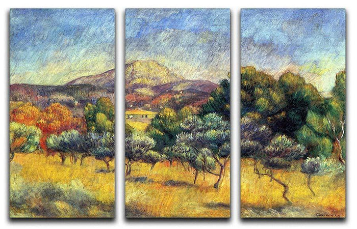 Sainte Vicoria Mountain by Renoir 3 Split Panel Canvas Print