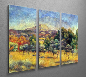 Sainte Vicoria Mountain by Renoir 3 Split Panel Canvas Print - Canvas Art Rocks - 2