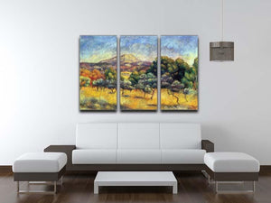 Sainte Vicoria Mountain by Renoir 3 Split Panel Canvas Print - Canvas Art Rocks - 3