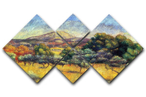 Sainte Vicoria Mountain by Renoir 4 Square Multi Panel Canvas  - Canvas Art Rocks - 1