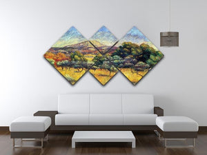 Sainte Vicoria Mountain by Renoir 4 Square Multi Panel Canvas - Canvas Art Rocks - 3