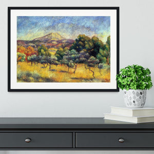 Sainte Vicoria Mountain by Renoir Framed Print - Canvas Art Rocks - 1