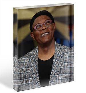 Samuel L Jackson Acrylic Block - Canvas Art Rocks - 1