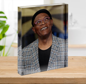 Samuel L Jackson Acrylic Block - Canvas Art Rocks - 2
