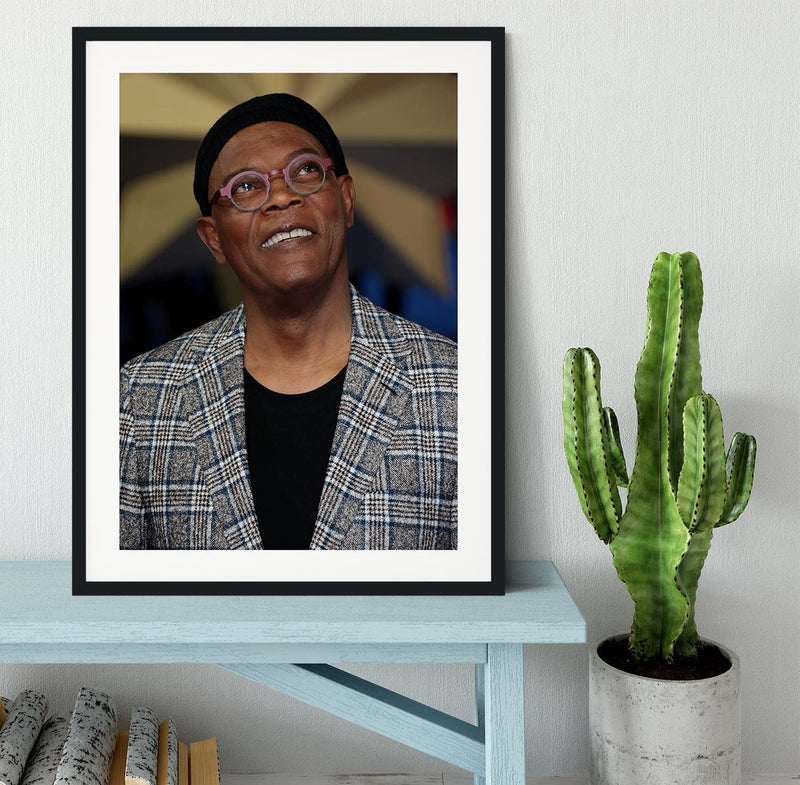 Samuel L Jackson Framed Print - Canvas Art Rocks - 1