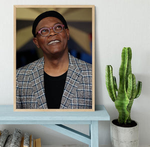 Samuel L Jackson Framed Print - Canvas Art Rocks - 4