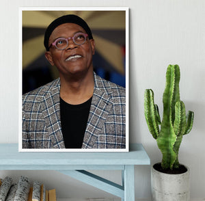 Samuel L Jackson Framed Print - Canvas Art Rocks -6