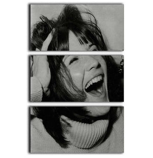 Sandie Shaw laughing 3 Split Panel Canvas Print - Canvas Art Rocks - 1