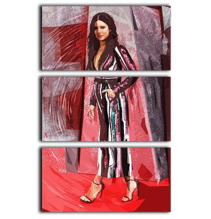 Sandra Bullock Pop Art 3 Split Panel Canvas Print