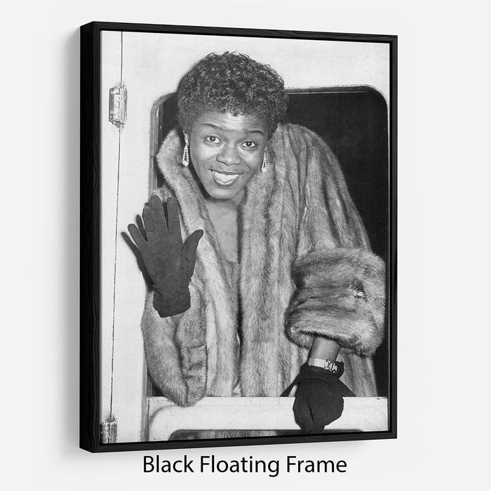 Sara Vaughan in 1962 Floating Frame Canvas