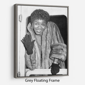 Sara Vaughan in 1962 Floating Frame Canvas - Canvas Art Rocks - 3