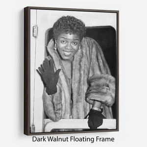 Sara Vaughan in 1962 Floating Frame Canvas - Canvas Art Rocks - 5