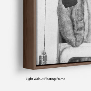 Sara Vaughan in 1962 Floating Frame Canvas - Canvas Art Rocks - 8