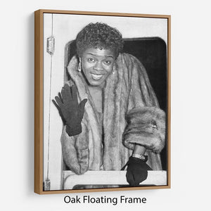 Sara Vaughan in 1962 Floating Frame Canvas - Canvas Art Rocks - 9