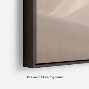 Satin fabric champagne Floating Frame Canvas