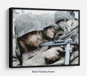 Saving Private Ryan Floating Frame Canvas