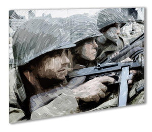 Saving Private Ryan Outdoor Metal Print - Canvas Art Rocks - 1