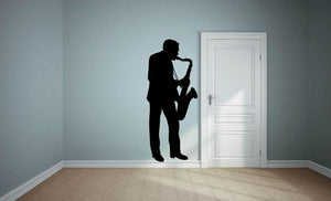Saxophone Player Wall Sticker - Canvas Art Rocks
