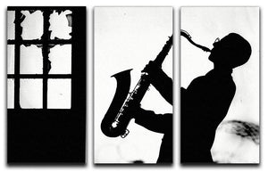 Saxophone player 3 Split Panel Canvas Print - Canvas Art Rocks - 1