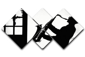 Saxophone player 4 Square Multi Panel Canvas - Canvas Art Rocks - 1