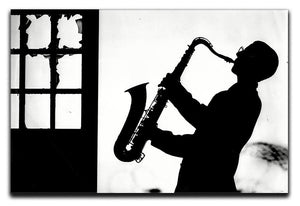 Saxophone player Canvas Print or Poster - Canvas Art Rocks - 1