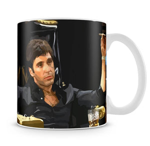 Scarface At His Desk With Cigar Mug - Canvas Art Rocks