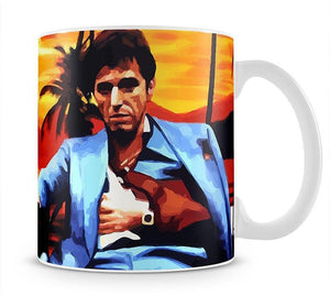 Scarface Sunset Mug - Canvas Art Rocks - 1