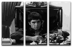 Scarface at his desk 3 Split Panel Canvas Print - Canvas Art Rocks - 1