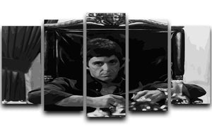 Scarface at his desk 5 Split Panel Canvas  - Canvas Art Rocks - 1