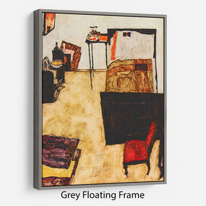 Schiele's living room in Neulengbach by Egon Schiele Floating Frame Canvas - Canvas Art Rocks - 3