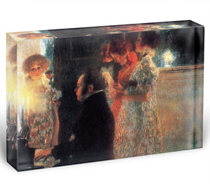 Schubert at the piano by Klimt Acrylic Block - Canvas Art Rocks - 1