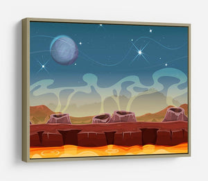 Sci-Fi Alien Planet HD Metal Print