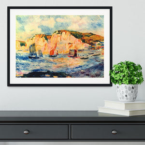 Sea and cliffs by Renoir Framed Print - Canvas Art Rocks - 1