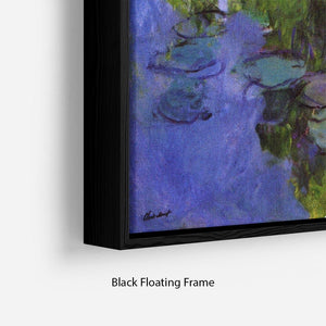 Sea roses by Monet Floating Frame Canvas