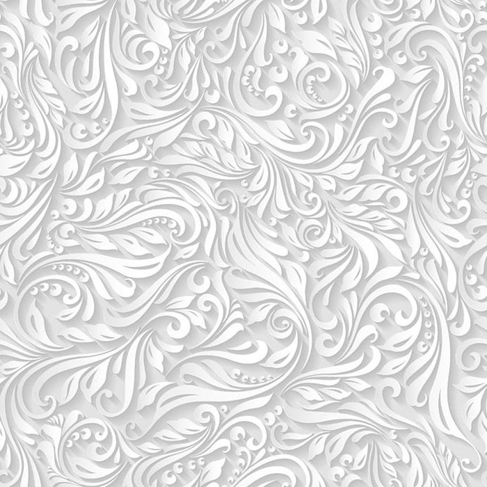 Seamless abstract white floral Wall Mural Wallpaper