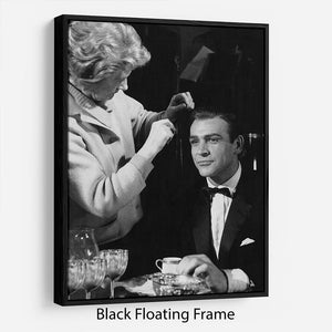 Sean Connery on set 1964 Floating Frame Canvas - Canvas Art Rocks - 1