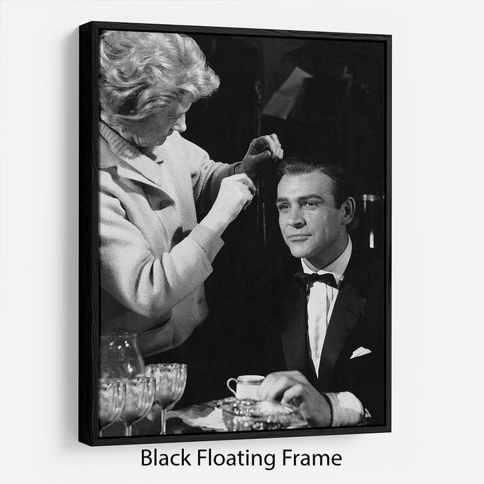 Sean Connery on set 1964 Floating Frame Canvas