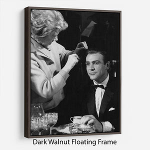 Sean Connery on set 1964 Floating Frame Canvas - Canvas Art Rocks - 5