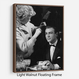 Sean Connery on set 1964 Floating Frame Canvas - Canvas Art Rocks - 7