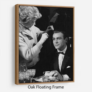 Sean Connery on set 1964 Floating Frame Canvas - Canvas Art Rocks - 9