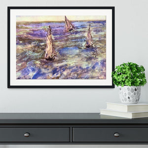 Seascape 1873 by Manet Framed Print - Canvas Art Rocks - 1