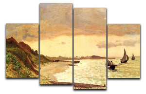 Seaside at Sainte Adresse by Monet 4 Split Panel Canvas  - Canvas Art Rocks - 1