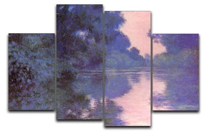 Seine arm at Giverny by Monet 4 Split Panel Canvas  - Canvas Art Rocks - 1