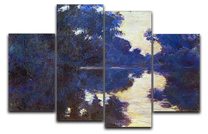 Seine in Morning 2 by Monet 4 Split Panel Canvas  - Canvas Art Rocks - 1