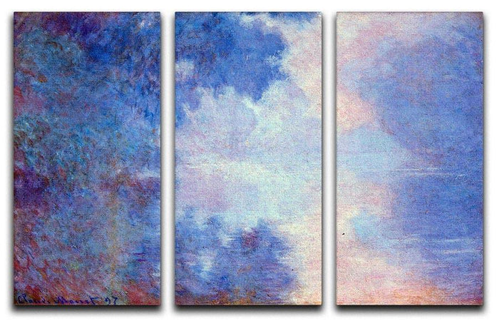 Seine in Morning by Monet Split Panel Canvas Print